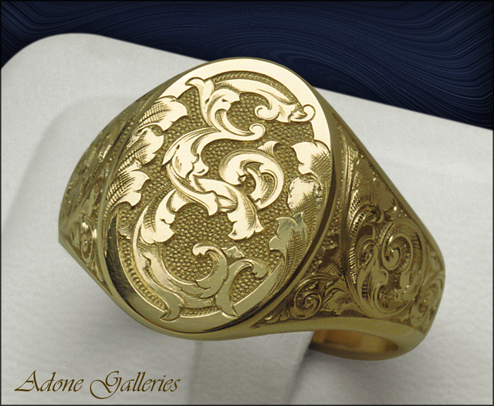 monigram engraved ring