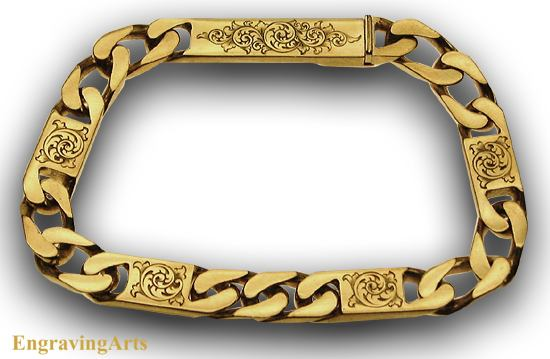 18K gold Bracelet engraved